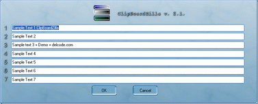 ClipBoardZilla, copy to clipboard with mouse movement Screenshot