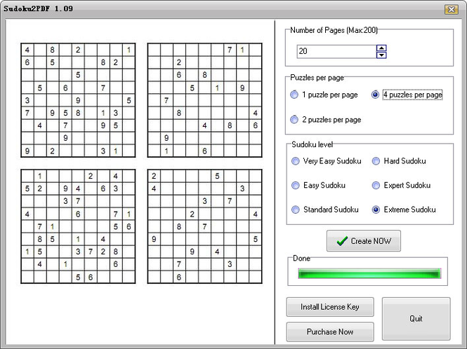 Sudoku2PDF Screenshot
