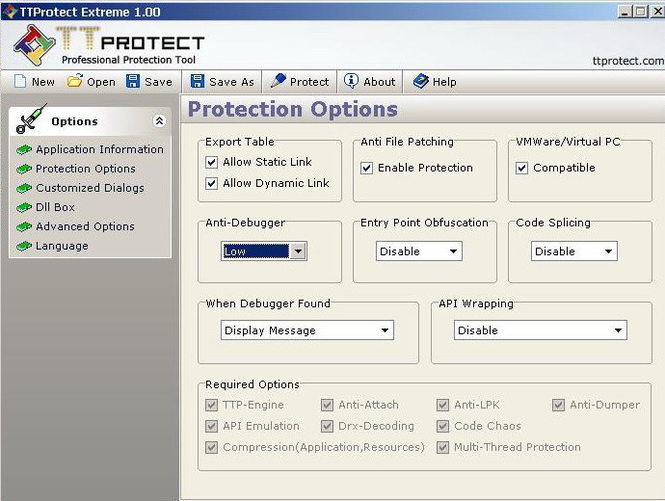 TTProtect Standard Edition Screenshot