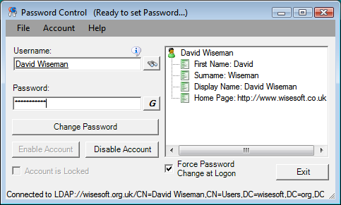 Password Control Screenshot