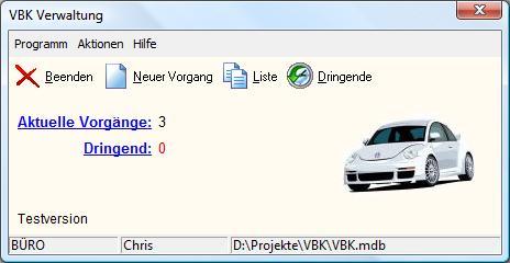 VBK Verwaltung Screenshot