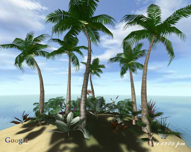 Ocean Island 3D Screensaver Screenshot 1