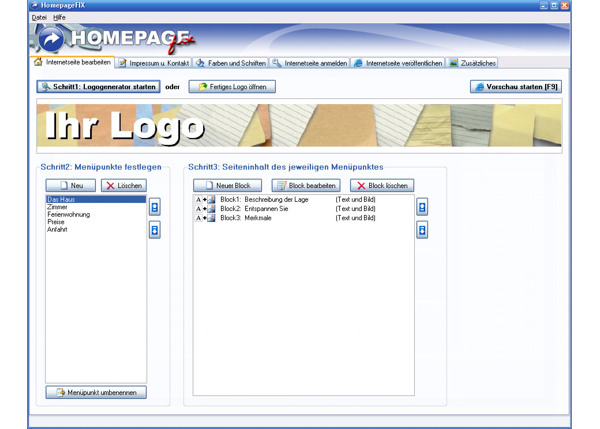HomepageFIX Screenshot
