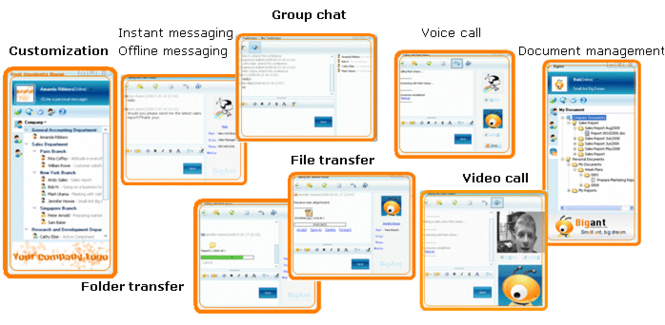 BigAnt Office Instant Messaging Server Screenshot