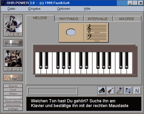 Ohr-Power Gehörbildung Lizenz für Schüler Screenshot 1