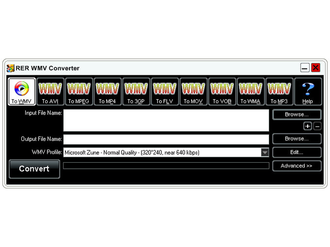 RER WMV Converter Screenshot