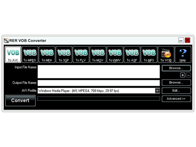 RER VOB Converter Screenshot