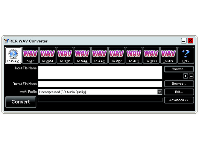 RER WAV Converter Screenshot