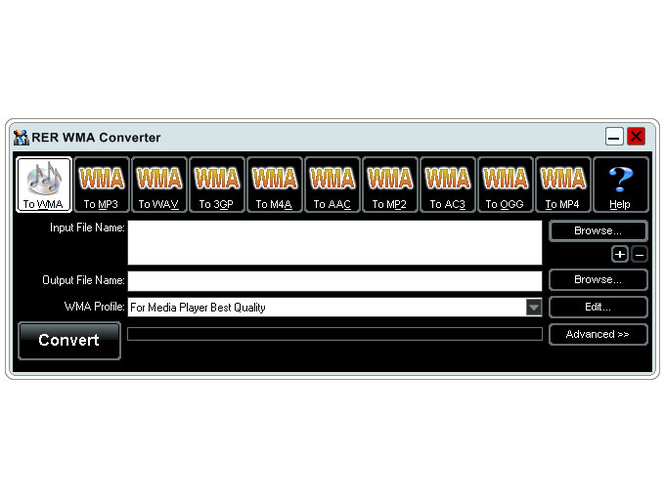 RER WMA Converter Screenshot
