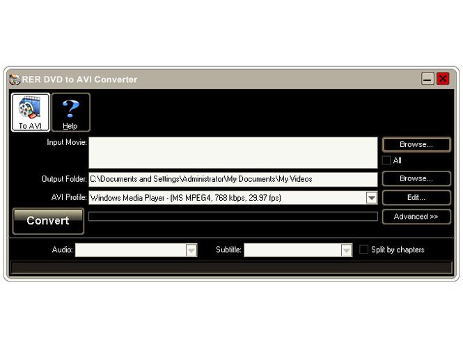 RER DVD to AVI Converter Screenshot