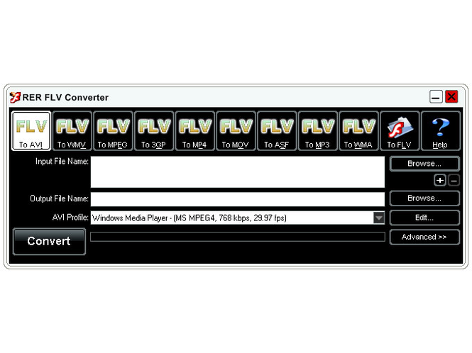 RER FLV Converter Screenshot