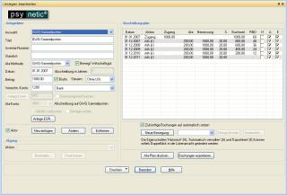 psynetic®-Anlagenverwaltung Screenshot 1