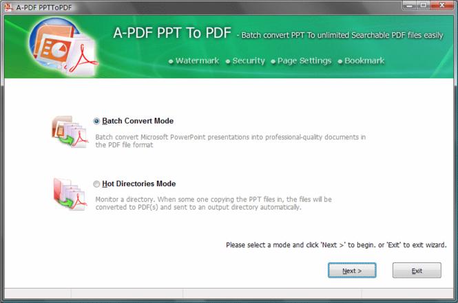 A-PDF PPT to PDF Screenshot 1