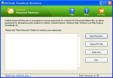 Outlook Password Recovery Screenshot