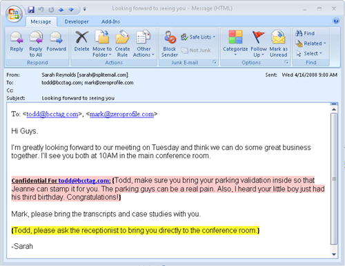 SplitEmail Screenshot 2