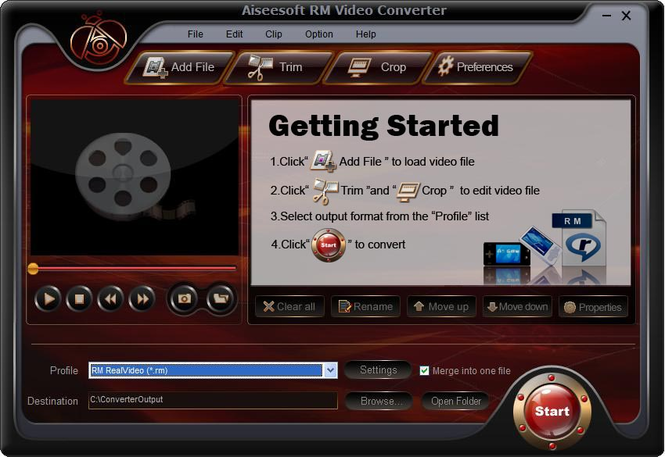 Aiseesoft RM Video Converter Screenshot