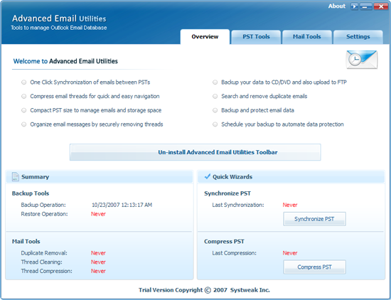 Advanced Email Utilities Screenshot