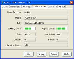 Kylix SMS Server Screenshot 1