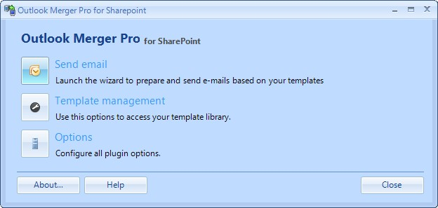 Outlook Merger Pro for SharePoint Screenshot