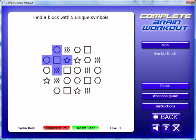 Complete Brain Workout Screenshot