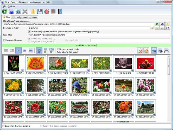 Bulk Image Downloader Screenshot