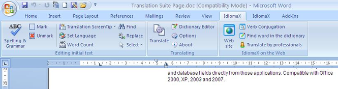 IdiomaX Office Translator Screenshot