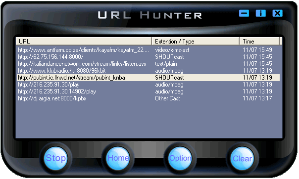 URL Hunter Screenshot