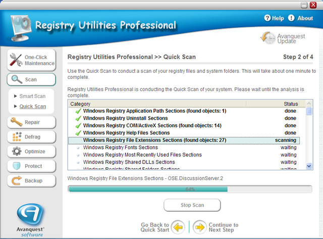 Registry Utilities Professional Screenshot