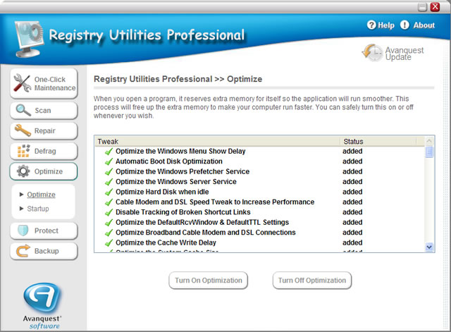 Registry Utilities Professional Screenshot 3