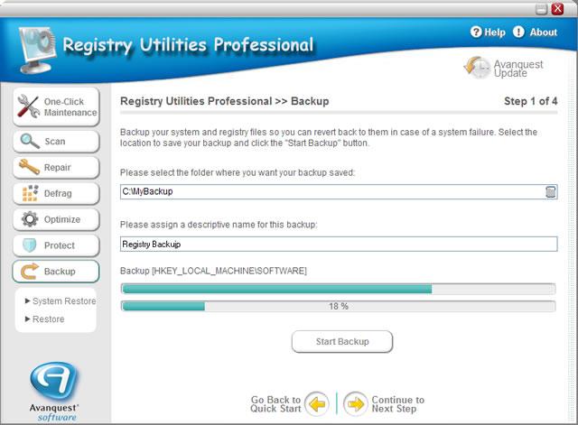 Registry Utilities Professional Screenshot 4