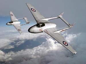Art print RAF DH100 Vampire 40x30 cm ver 1 (color) Screenshot 1