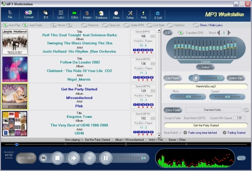 MP3 Workstation Screenshot