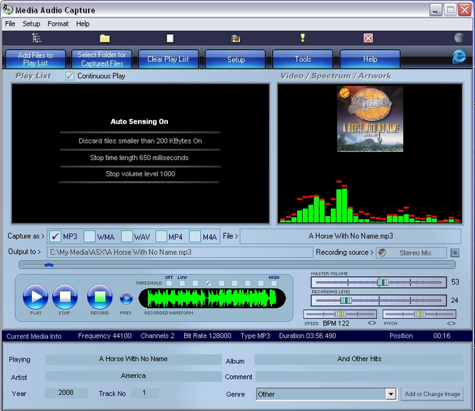 Media Audio Capture Screenshot 1