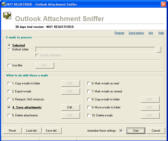 Outlook Attachment Sniffer - 15 User license Screenshot