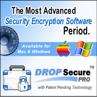 Drop Secure Professional for Mac OS X Screenshot 1