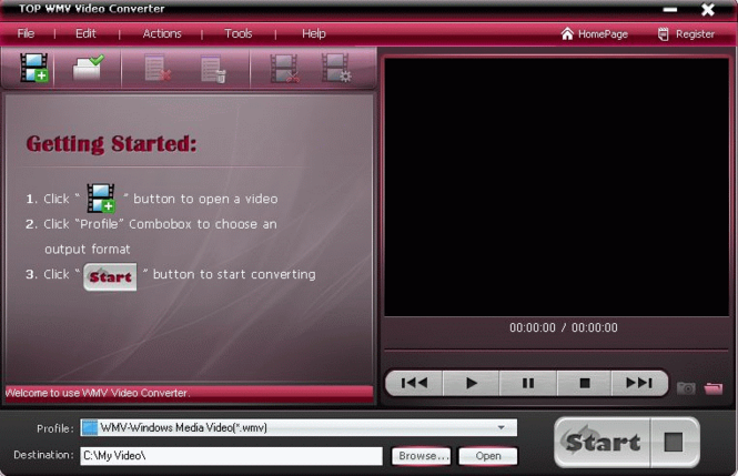 TOP WMV Video Converter Screenshot 1