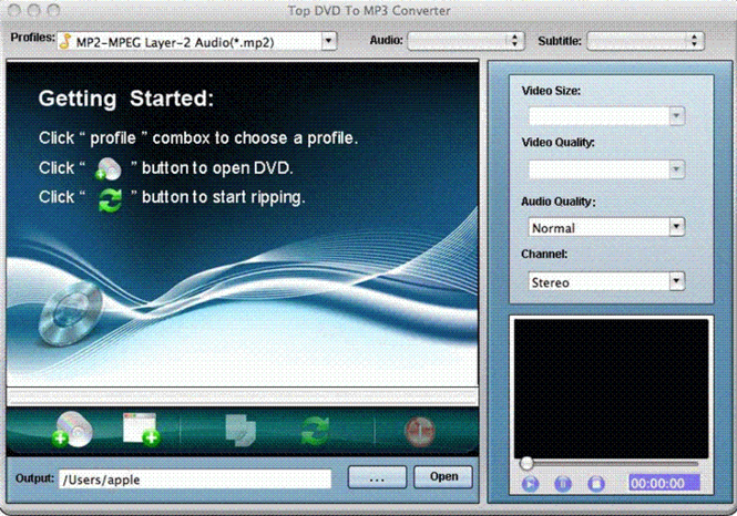 TOP DVD to MP3 Converter for Mac Screenshot