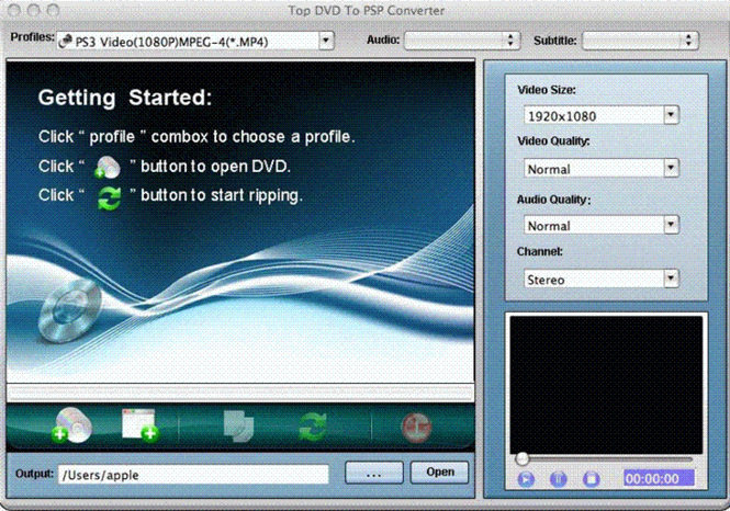 TOP DVD to PSP Converter for Mac Screenshot 1