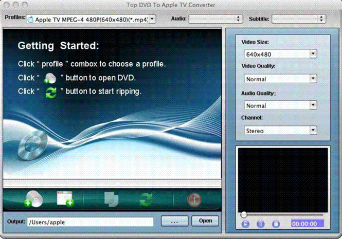 TOP DVD to Apple TV Converter for Mac Screenshot