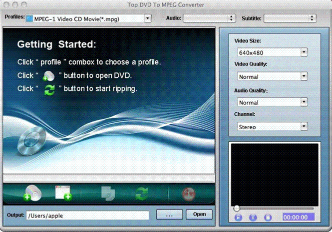 TOP DVD to MPEG Converter for Mac Screenshot