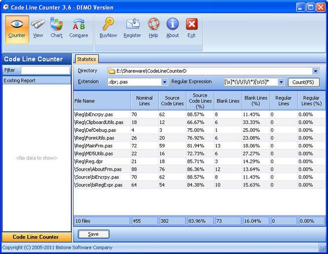 Code Line Counter Screenshot 1