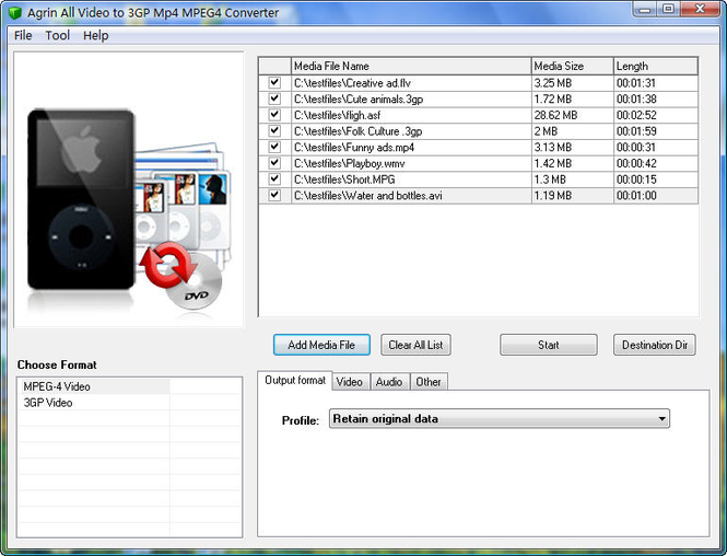 Agrin All Video to 3GP Mp4 Converter Screenshot