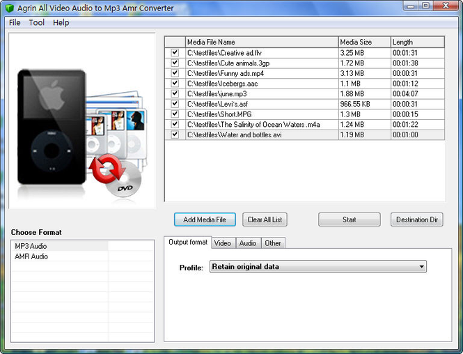 Agrin All Video Audio to Mp3 Converter Screenshot