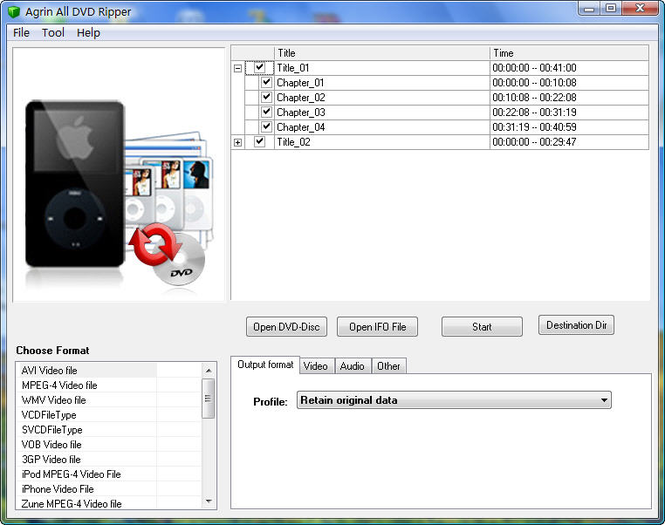 Agrin All DVD Ripper Screenshot 1