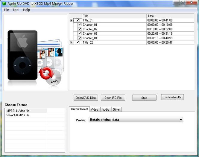 Agrin Rip DVD to XBOX Mp4 Mpeg4 Ripper Screenshot