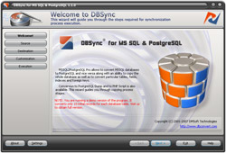 DBSync for MS SQL & PostgreSQL Screenshot 1