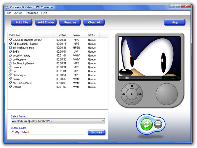 ConvexSoft Video to Wii Converter Screenshot 1