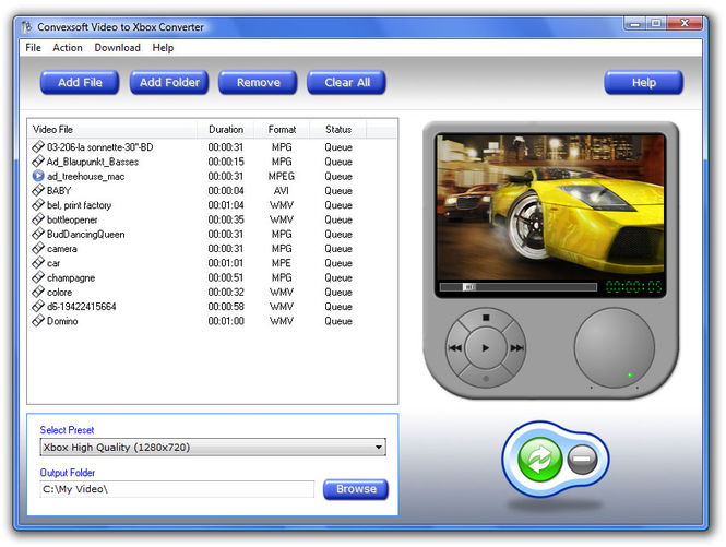 ConvexSoft Video to Xbox Converter Screenshot