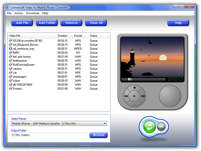ConvexSoft Video to Mobile Phone Convert Screenshot