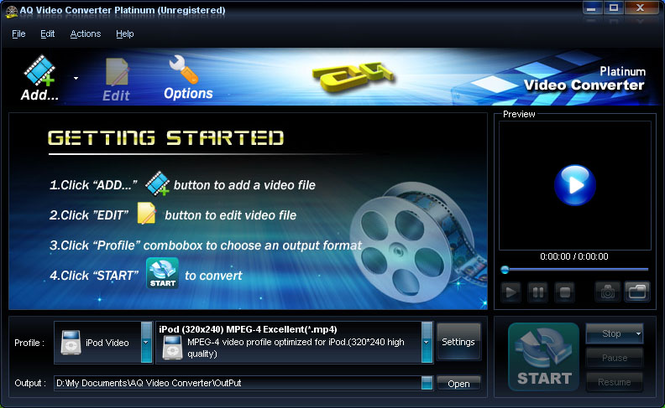 AQ Video Converter Platinum Screenshot 2
